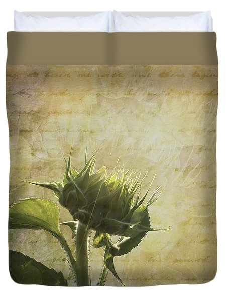 Duvet Cover featuring the photograph Sunset Beginnings by Melinda Ledsome