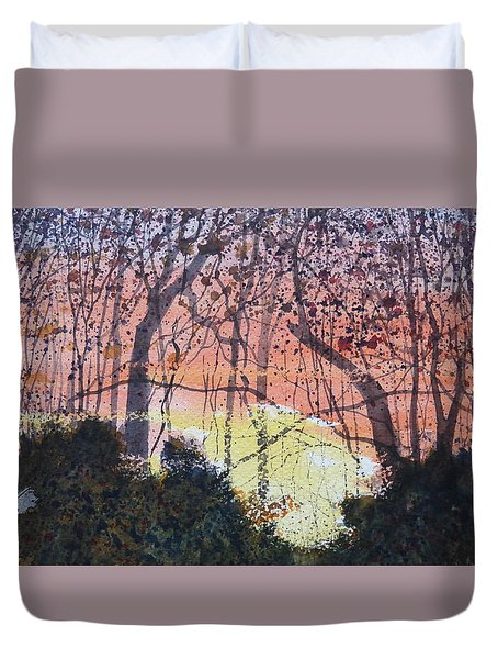 Sunset Between The Sourwoods Duvet Cover