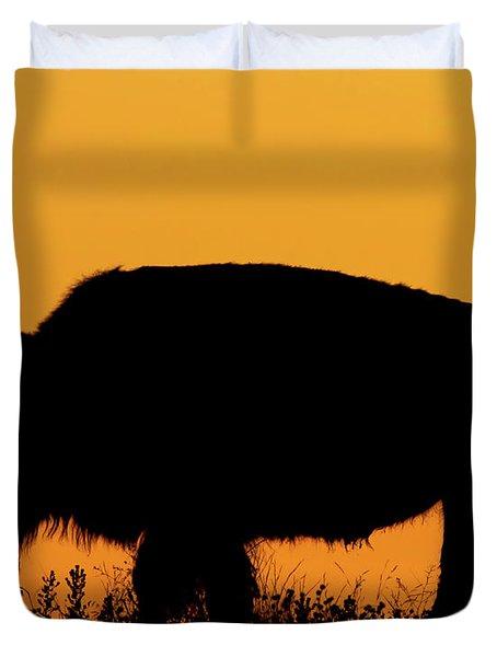 Sunset Bison 2 Duvet Cover