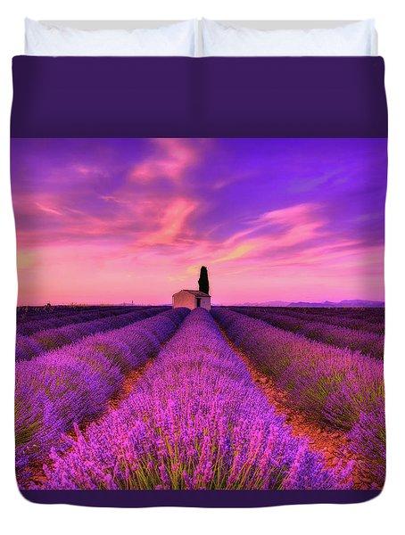 Sunset Blues Duvet Cover by Midori Chan