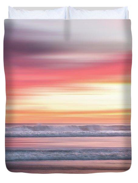 Sunset Blur - Pink Duvet Cover