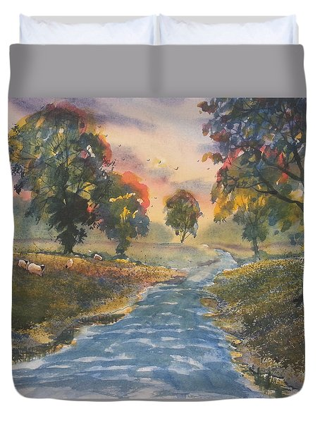 Sunset Boulevard Duvet Cover