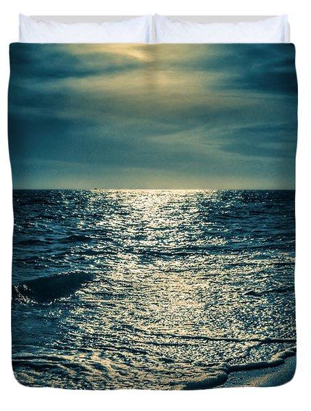 Sunset Bowman Beach Sanibel Florida Duvet Cover