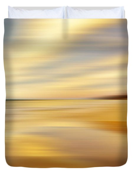 Duvet Cover featuring the photograph Sunset Breez'n by Kathi Mirto