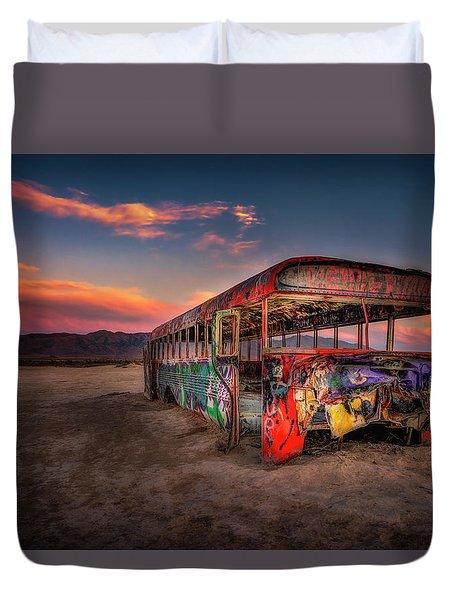 Sunset Bus Tour Duvet Cover