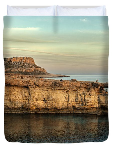 Sunset By The Cape Duvet Cover by Mike Santis