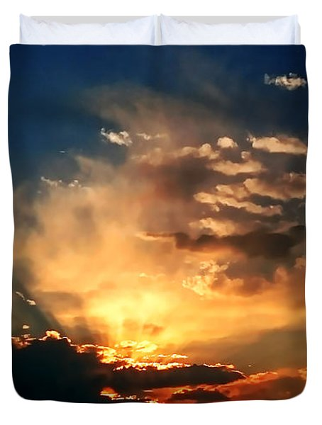 Sunset Of The End Of June Duvet Cover