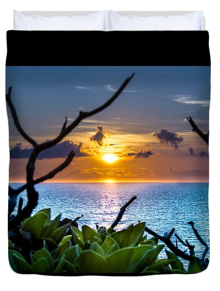 Sunset By The Point Duvet Cover