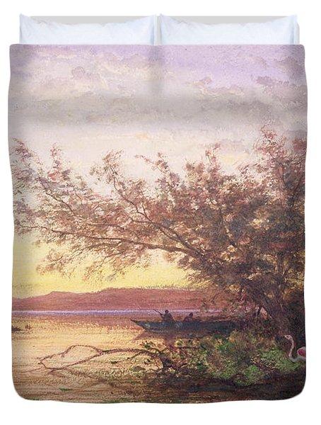 Sunset, Camargue Duvet Cover