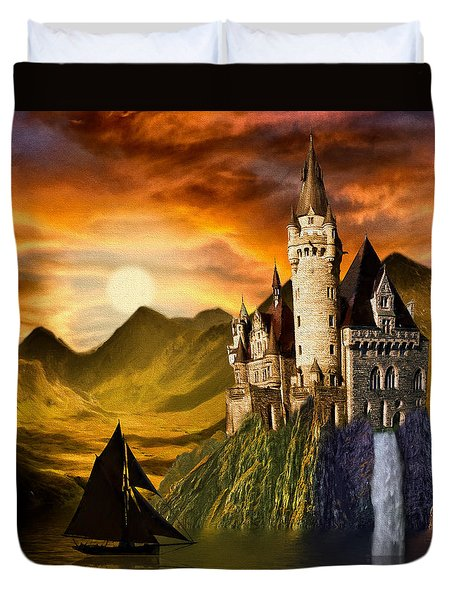 Sunset Castle Duvet Cover