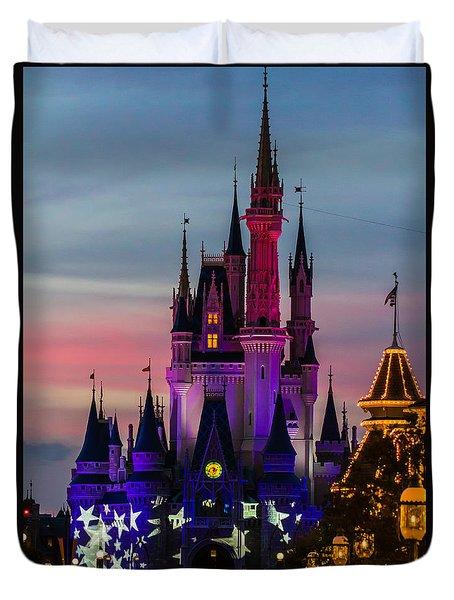 Sunset Castle Duvet Cover