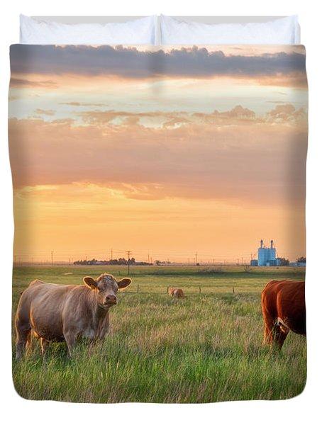 Sunset Cattle Duvet Cover