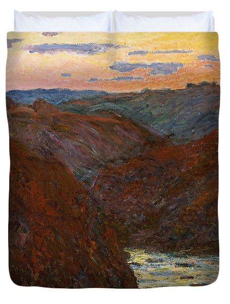 Sunset Duvet Cover by Claude Monet