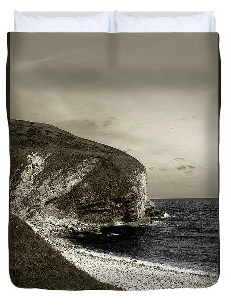 Sunset Cliff Duvet Cover