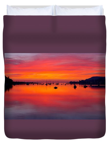 Sunset, Conwy Estuary Duvet Cover