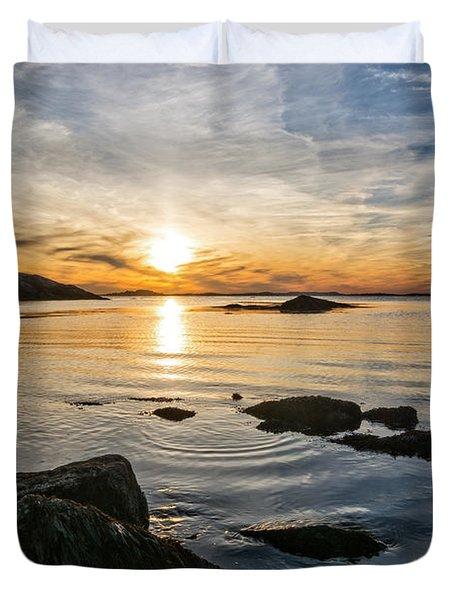 Sunset Cove Gloucester Duvet Cover by Michael Hubley