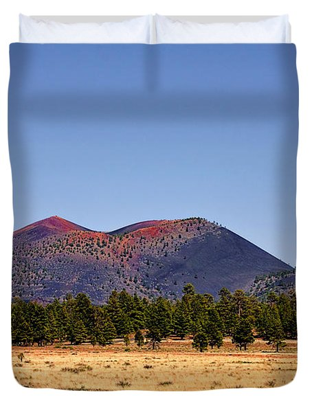 Sunset Crater Volcano National Monument Duvet Cover by Christine Till