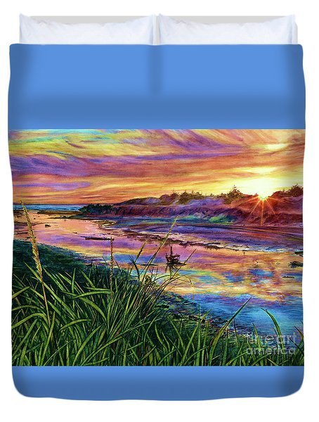 Sunset Creation Duvet Cover
