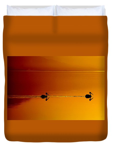 Sunset Cruising Duvet Cover