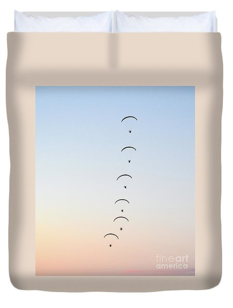 Sunset Dancing Duvet Cover