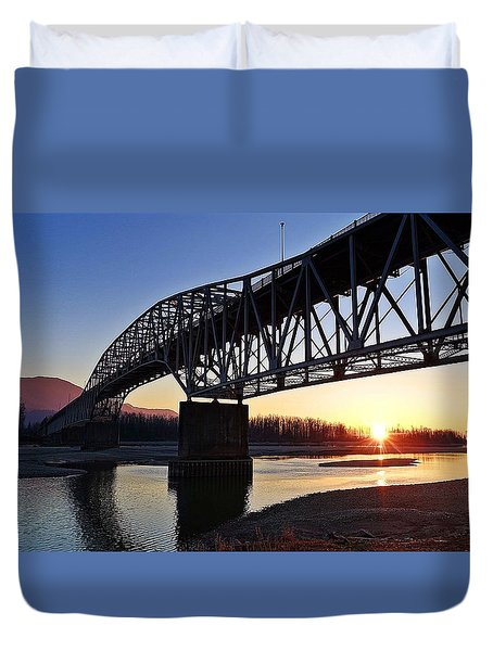 Fraser River, Bc  Duvet Cover by Heather Vopni