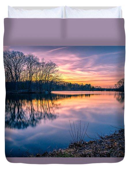 Sunset-dorothy Pond Duvet Cover