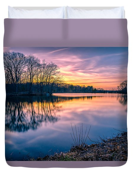 Sunset-dorothy Pond Duvet Cover by Craig Szymanski