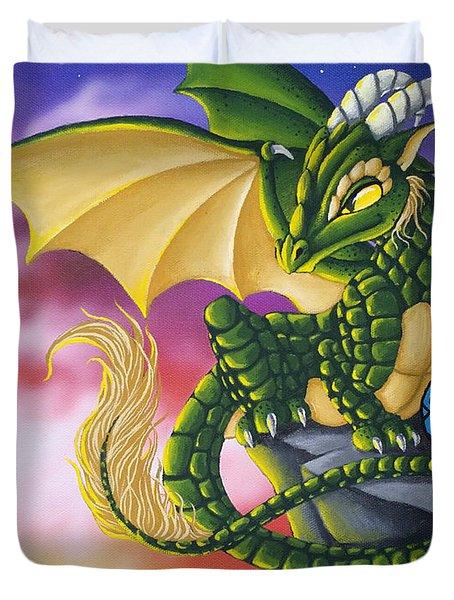 Sunset Dragon Duvet Cover