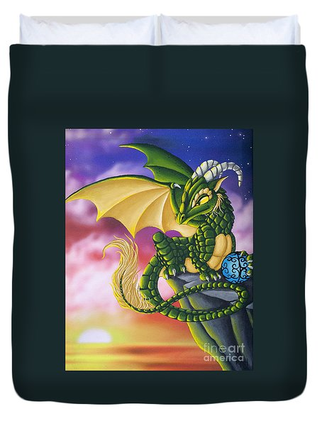 Sunset Dragon Duvet Cover