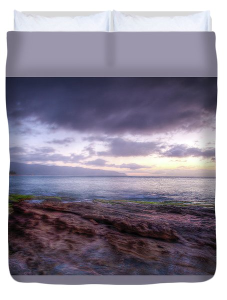 Duvet Cover featuring the photograph Sunset Dream by Break The Silhouette