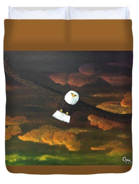 Sunset Eagle Duvet Cover