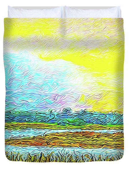 Sunset Ecstasy Duvet Cover by Joel Bruce Wallach