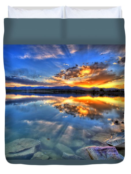 Sunset Explosion Duvet Cover