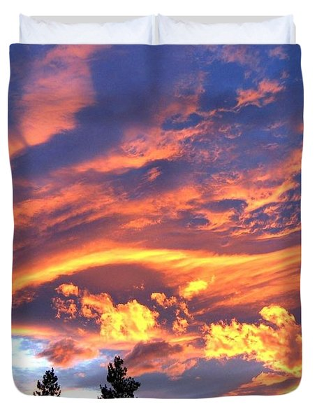 Sunset Extravaganza Duvet Cover by Will Borden