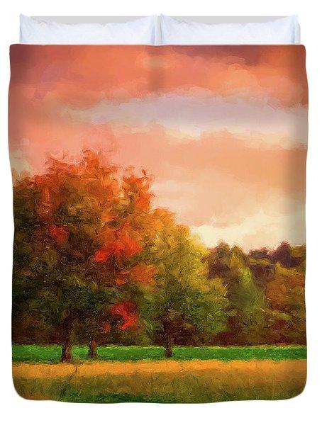 Sunset Field Duvet Cover