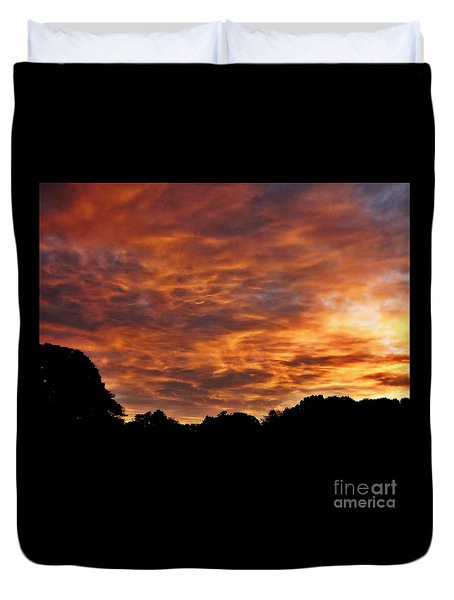 Sunset Fire Duvet Cover