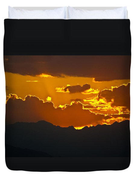 Sunset Fire Duvet Cover by Colleen Coccia