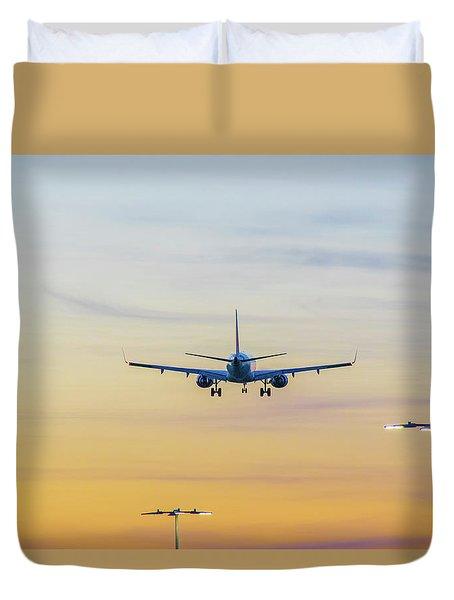 Sunset Flight Duvet Cover by Ross G Strachan