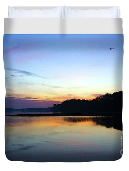 Sunset Florida Seascape Inlet 139a Duvet Cover