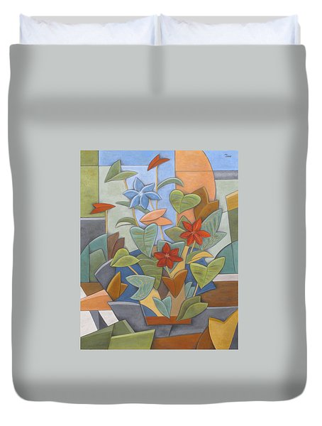 Sunset Flowerbed Duvet Cover