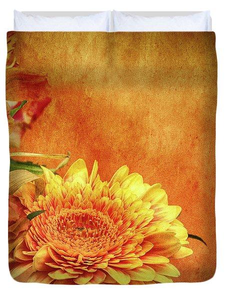Sunset Flowers Duvet Cover