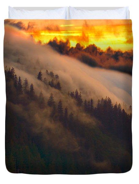 Sunset Fog Duvet Cover