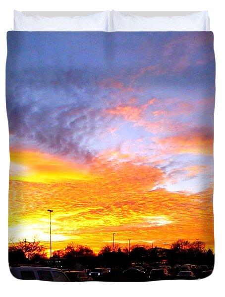 Sunset Forecast Duvet Cover