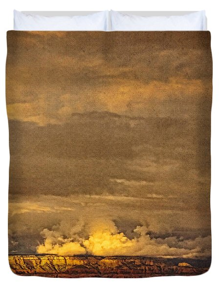 Sunset From Above A Duvet Cover