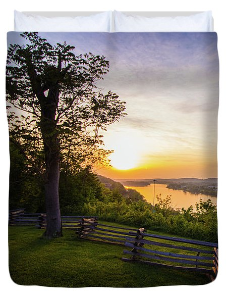 Sunset From Boreman Park Duvet Cover by Jonny D