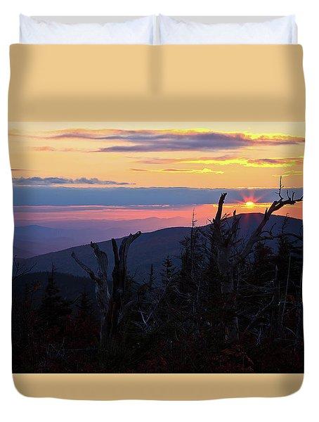 Sunset From Caps Ridge, Mount Jefferson Duvet Cover