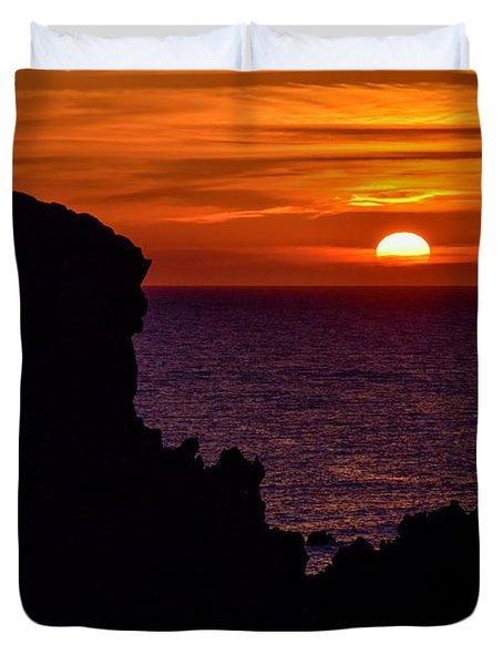Sunset From Costa Paradiso Duvet Cover