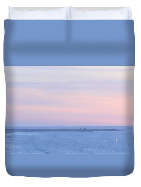 Sunset From Irish Beach Duvet Cover