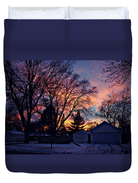 Sunset From My View Duvet Cover