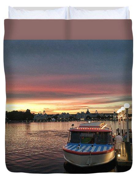 Sunset From The Boardwalk Duvet Cover
